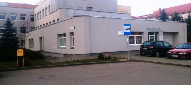 Gyventojų patogumui ligoninės teritorijoje įrengta autobusų stotelė