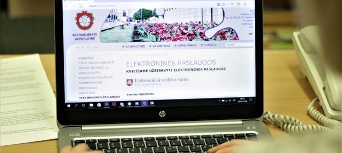 Alytaus miesto savivaldybė teikia per 100 elektroninių paslaugų: pasinaudokite šia galimybe!