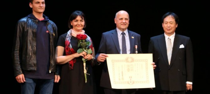 Svarus Japonijos apdovanojimas įteiktas miesto tarybos nariui Kęstučiui Ptakauskui