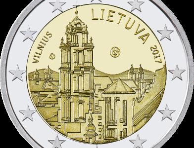 Nauja 2 eurų moneta, skirta Vilniui