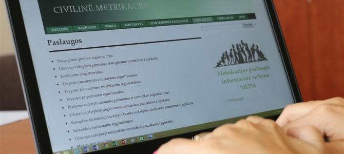 Civilinės metrikacijos paslaugas užsisakykite internetu