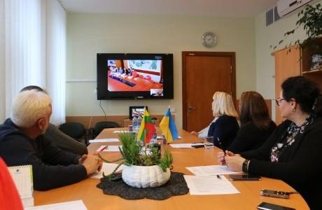 Alytaus ir Kremenčuko bendradarbiavimas: skaipo konferencijos metu – apie aplinkosaugą ir ekologiją