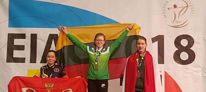 Lietuvos rekordą pagerinusiai lankininkei M. Večkytei – Europos čempionato auksas!