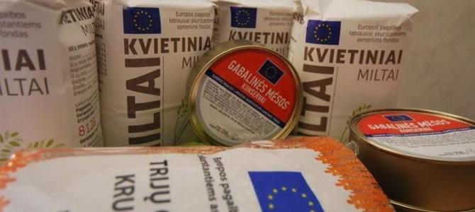 Dalijama europinė parama maisto produktais
