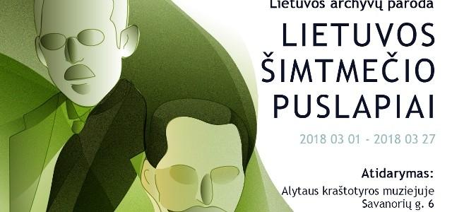 """Paroda muziejuje """"Lietuvos šimtmečio puslapiai"""""""