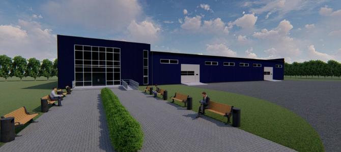 Naujo gamybinio pastato verslui projektas