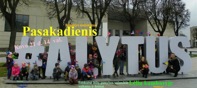 """Alytaus lėlių teatras """"Aitvaras"""" kviečia į edukacinę valandėlę """"Pasakadienis"""""""