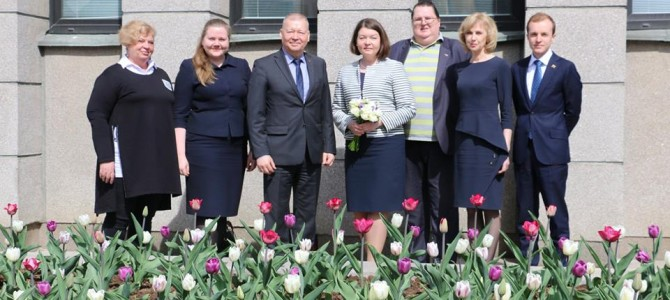 Estijos ambasadorė Alytuje