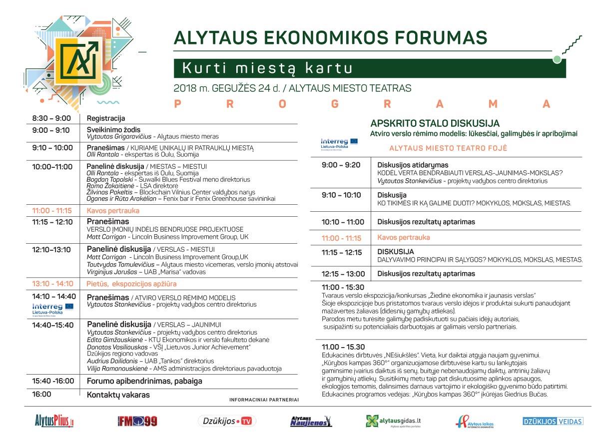 Alytaus ekonomikos forumo programa