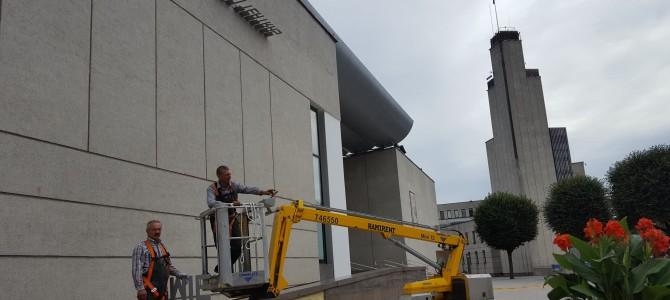Alytaus miesto teatro užrašas – jau ant teatro pastato. Pagaliau !!!