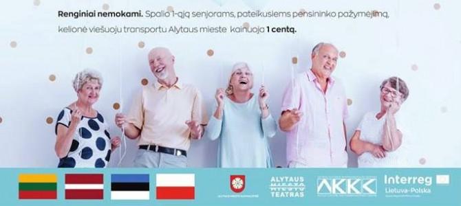 """Alytaus miesto senjorai kviečiami į Baltijos šalių senjorų festivalį """"Amžinai jauni"""""""
