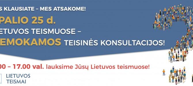 Konstitucijos dieną – nemokama teisinė pagalba Lietuvos teismuose
