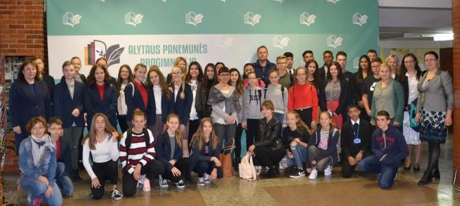 Tarptautinio projekto susitikimas Alytaus Panemunės progimnazijoje