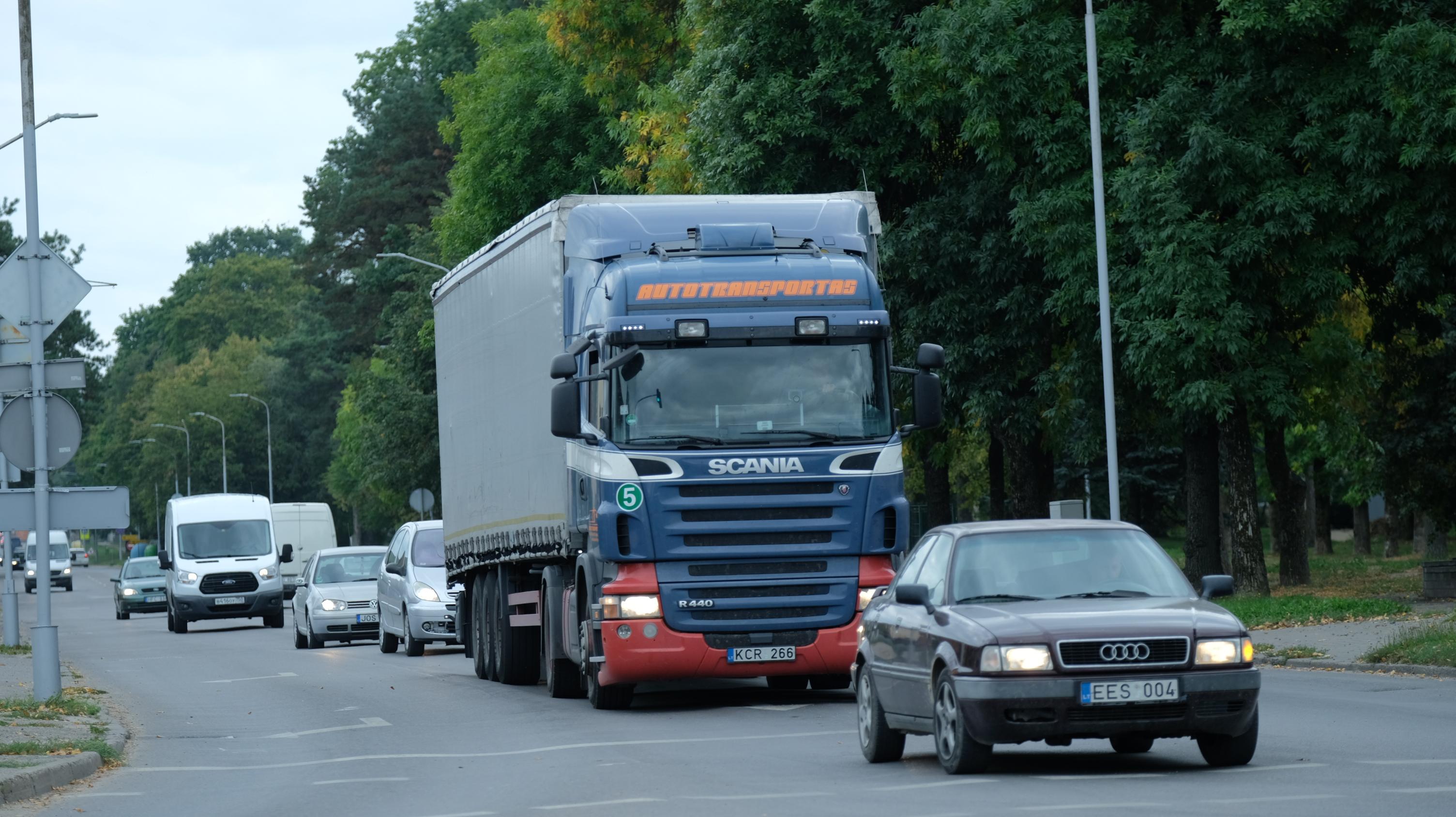 Sunkiasvoris transportas (AMS nuotr.)