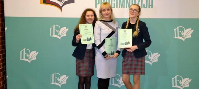 Skaitovų konkursas Panemunės progimnazijoje