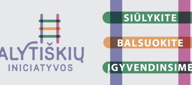 Alytiškių iniciatyvų konkursas pratęstas iki kovo 12 dienos