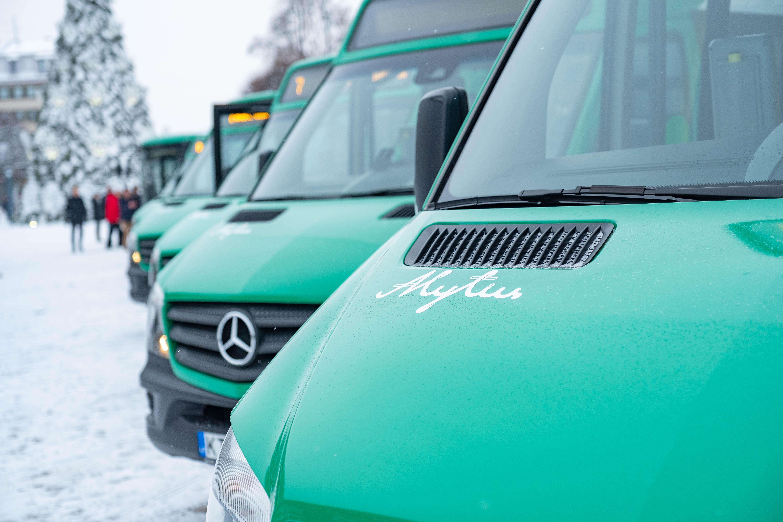 Nauji autobusai (A.Mažeikos nuotr.)