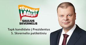 Susitikimas su kandidatu į Prezidentus Sauliumi Skverneliu