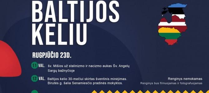 Rugpjūčio 23 d. kviečiame visus kartu minėti 30-asias Baltijos kelio metines!