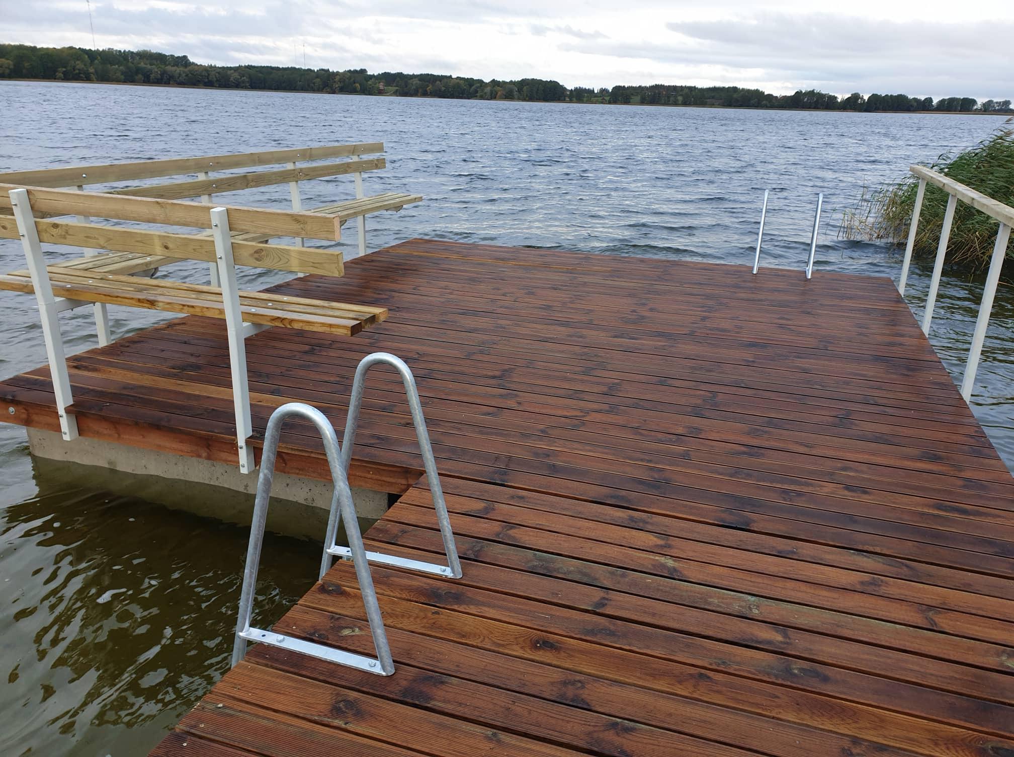 Prie Giluičio ežero įrengtas naujas lieptas