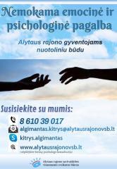 Nemokama emocinė ir psichologinė pagalba