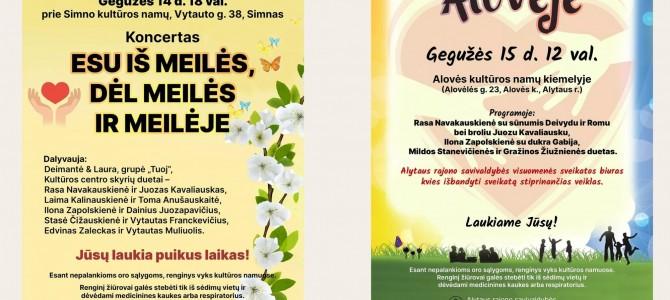 Šeimos dienai Alytaus rajone – du koncertai