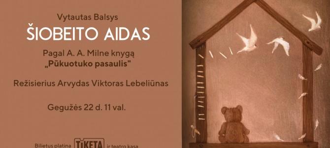 """Alytaus miesto teatro spektaklis vaikams """"Šiobeito aidas"""" pagal A. A. Milne knygą """"Pūkuotuko pasaulis"""""""