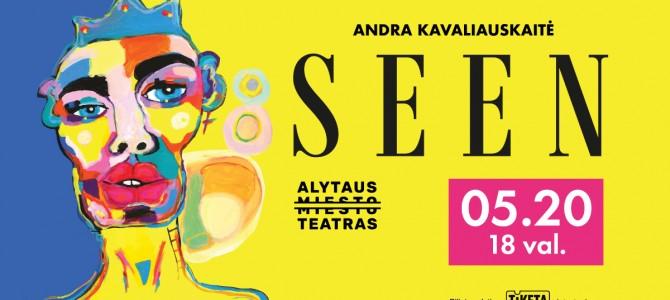 "Alytaus miesto teatro monospektaklis (storytelling)  ""SEEN"""