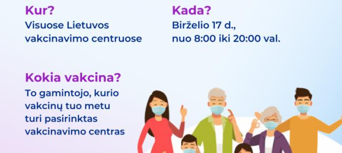 Vakcinacija be registracijos – jau šį ketvirtadienį visoje Lietuvoje