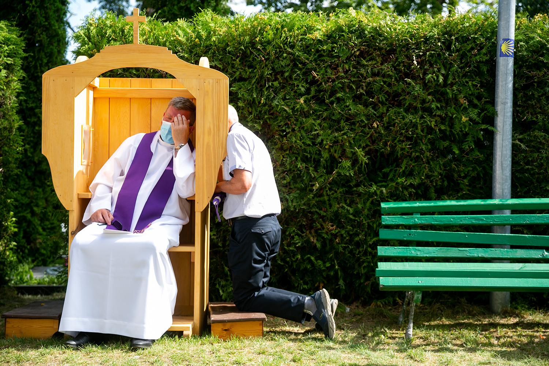 Švč. Mergelės Marijos Ėmimo į dangų (Žolinės) atlaidai. Pivašiūnų Švč. Mergelės Marijos Ėmimo į dangų bažnyčia. Pivašiūnai. 2020 m. Rugpjūčio 15 d.