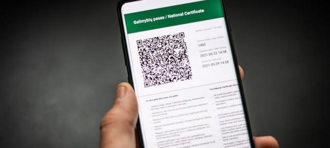 Galimybių pasą jau gali gauti ir užsienyje paskiepyti arba persirgę Lietuvos gyventojai